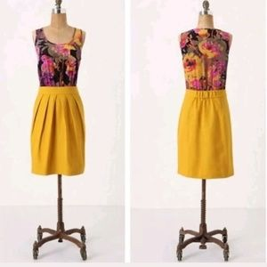 Tabitha Anthropologie Dress Lila Frock Silk Floral